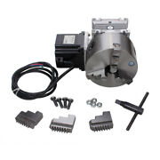 Cnc Gearbox Router Rotary A 4th Axis 3 Jaw 130mm Chuck 201 Engraving Machine