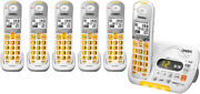 Uniden D3097-6 Amplified Cordless Phone W/ Intercom And 5 Extra Handsets