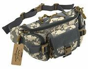 Tactical Fanny Pack For Men Waist Bag Military Hip Belt Outdoor Acu Camouflage