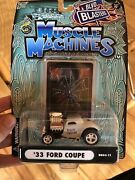 1933 Ford Coupe White Blvd Blasters Black Widow Muscle Machines 1/64