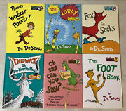 Lot Of 6 Large Dr. Seuss Collectors Edition Hardback Books With Dust Jackets