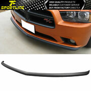 Fits 11-14 Oe Style Front Bumper Lip Spoiler Polypropylene For Dodge Charger 4dr