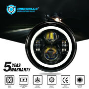 Ironwalls 7in Motorcycle Led Headlight Turn Signal For Harley Touring Sportster