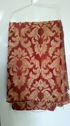 Incredible Brick Red Beige Chenille Tapestry Vintage Tapestry Fabric