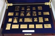 Andldquounited We Standandrdquo Usps Fine Silver 24k Gold Plated Stamp Collection 6654