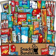 Snackbundles Deluxe Care Package 50 Count Snack Sampler Gift Fathers Day Box