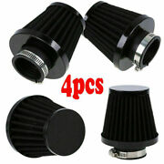 4x Motorcycle 52mm Cold Air Filter Intake Cleaner Pod Black Fit For Harley Honda