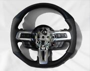 Ford Mustang Shelby Gt 2015-2017 Steering Wheel Carbon Fiber Black Leather