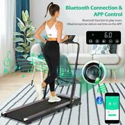 Folding Treadmill Under Desk For Home 2-in-1 Space Saver Treadmill And Bluetooth