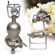 Popcorn Maker Hand-cranked Cannon Corn Popper Pop Corn Puffing Machine Stainless