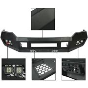 For 2011-2016 2/4wd Ford F250 F350 Heavy Duty Black Front Bumper W/leds New