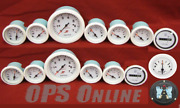 Mercury Analog Gauge Set Wht-7k Tachtemptrimvolts Oil Fuelhoursyncdriver