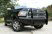 Fab Fours Dr10-s2960-1 Black Steel Front Ranch Bumper