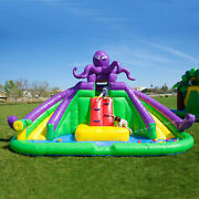 Inflatable Water Slide Octopus Theme 100 Vinyl With Blower