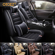 5 Seat Full Set Car Seat Cover Luxury Leather Universal Front Rear Back Cushion