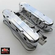 Ls Polished Aluminum Smooth 2pc Valve Coil Mount Covers Ls1 Ls2 Ls3 5.7 6.0 6.2