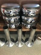Vintage Diner Stools New Vinly And Pads 6 Stools Can Ship For Fee Or Local Pic