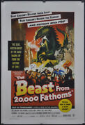 Beast From 20000 Fathoms 1953 27x41 Linenbacked Movie Poster Paul Hubschmid