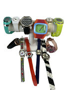Lot Of 11 Womens Watches Rubber Silicone Fashion Gold Silver Tone Resale