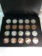 Zombucks - Complete 10 Coin Silver And Copper Sets With Case - Walker To Saint