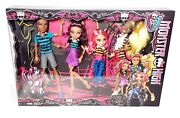Monster High A Pack Of Trouble 4 Pack Dolls Clawd Clawdeen Dolls Mattel New