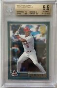 2001 Topps Traded Albert Pujols Rookie Rc T247 Bgs 9.5 Gem Mint 10 Subs