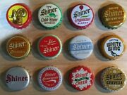 12 Shiner Beer Bottle Caps - Free Shipping - Please See Pictures