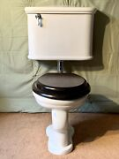 Antique Toilet Restored Wall Mounted