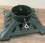 Vtg Heavy Cast Iron Large Christmas Tree Stand 14 Base Trees Up To 6 Diameter