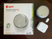 August Smart Lock Pro Silver With Connect Wifi Bridge For Smart Home