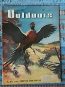1947 October Outdoors Vintage Magazine Pheasant Hunting Ads Of Rifles-beer-fish