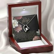 Husband To Wife Unique Necklace 25th Wedding Anniversary 25 Years Romantic Gifts
