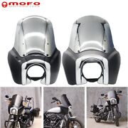 Motorcycle Front Headlight Fairing W/15 Windshield And Trim Bezel For Harley Fxst