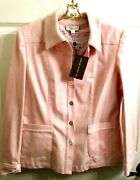 Nwt St. John Pink Casual Jacket And Shell Sz 10/m