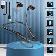 Wireless Neckband Headsets Earbuds Hifi Stereo Headphones Mic For Cellphones Usa