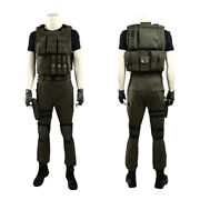 Resident Evil 3 Carlos Oliveira Full Set Halloween Cosplay Costume + Shoes
