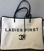 Ladies First Canvas And Leather Tote With Whistle Spring 2015