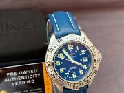 Breitling Colt A57035 Stainless Steel With New Breitling Leather Strap And Case