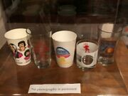 Allman Brothers Licenced Drinking Glasses In Display Case, Very Rare