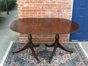 English Antique Mahogany Duncan Phyfe Style Small Dining Table