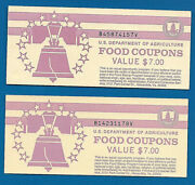 Food Stamp Coupons Usda Unc One 1998 B 7.00 Full Book Welfare Scrip