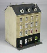 4 Story Residential Building With Office Painted Weathered Detailed N Scale
