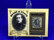 2020 Ud Goodwin Champions Heads Of State Stamp Relic Hs-7 King Albert I Belgium