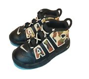 Nike Air More Uptempo Qs Ps Black Camo Sneakers Cj0932-001 Toddler Size 9c