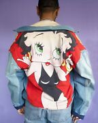 Too Cute Vintage Betty Boop Jean Jacket Size Large 90s Rare