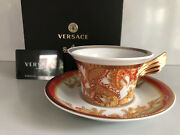 Versace Asian Dream Tea Cup And Saucer Celebrating 25 Years Rosenthal New