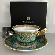 Versace Scala Palazzo Verde Tea Cup And Saucer Celebrating 25 Years Rosenthal New