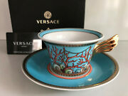 Versace Le Tresors De La Mer Tea Cup And Saucer Celebrating 25 Years Rosenthal New