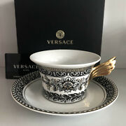 Versace Marqueterie Tea Cup And Saucer Celebrating 25 Years Rosenthal New