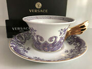 Versace Le Grand Divertissement Tea Cup And Saucer Celebrating 25 Years Rosenthal